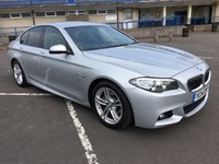 USED 2014 14 BMW 5 SERIES 2.0 520D M SPORT 4d AUTO 181 BHP HUGE LIST OF FACTORY FITTED EXTRAS