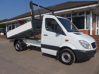 USED 2012 62 MERCEDES-BENZ SPRINTER 313 CDI MWB AUTOMATIC TIPPER, 130 BHP [EURO 5], 1 FORMER OWNER