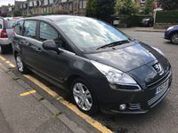 USED 2012 12 PEUGEOT 5008 1.6 HDI ACTIVE 5d 112 BHP PRICE INCLUDES A 6 MONTH AA WARRANTY DEALER CARE EXTENDED GUARANTEE, 1 YEARS MOT AND A OIL & FILTERS SERVICE. 12 MONTHS FREE BREAKDOWN COVER