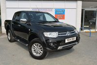 USED 2014 14 MITSUBISHI L200 2.5 DI-D 4X4 TROJAN DCB 1d 175 BHP LOW MILEAGE L200 TROJAN WITH AIR CON, ALLOYS, SIDESTEPS + PRIVACY GLASS