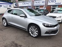 USED 2012 12 VOLKSWAGEN SCIROCCO 2.0 GT TDI BLUEMOTION TECHNOLOGY DSG 2d AUTO 140 BHP 0% FINANCE AVAILABLE PLEASE CALL 01204 317705