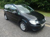 USED 2010 10 VOLKSWAGEN TOURAN 1.6 S 5d 102 BHP GREAT VALUE 1.6 PETROL TOURAN WITH ONE PREVIOUS LADY OWNER, SEVEN SEATS, AIR CONDITIONING, ALLOY WHEELS AND VOLKSWAGEN SERVICE HISTORY.