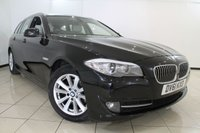 USED 2011 61 BMW 5 SERIES 2.0 520D SE TOURING 5DR 181 BHP HEATED LEATHER SEATS + 0% FINANCE AVAILABLE T&C'S APPLY + AIR CONDITIONING + PARKING SENSORS + BLUETOOTH + CRUISE CONTROL + 17 INCH ALLOY WHEELS