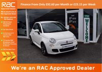 USED 2013 13 FIAT 500 1.2 S 3dr (start/stop) PCP FINANCE FROM ONLY £92.60pm