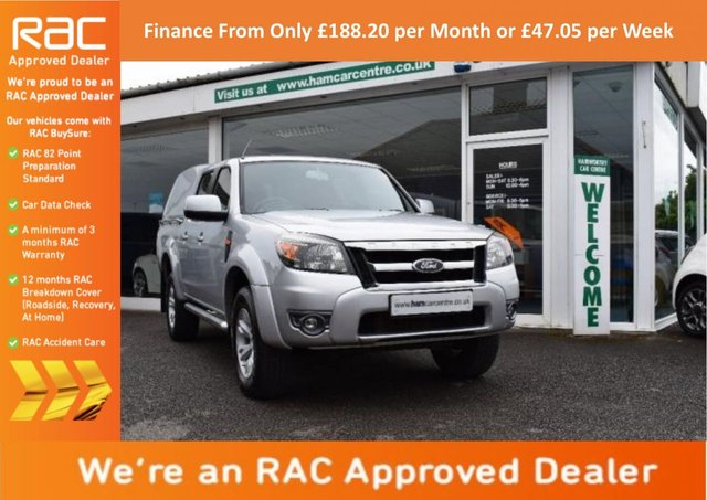 2011 11 FORD RANGER 2.5 TDCi Thunder Double Cab Pickup 4x4 4dr