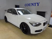 USED 2011 61 BMW 1 SERIES 2.0 116D SPORT 5d 114 BHP STUNNER WHITE WITH BLACK TRIM *