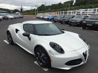 USED 2014 14 ALFA ROMEO 4C 1.7 TBI LAUNCH EDITION 2d AUTO 240 BHP Bianco Carrara 3-Layer Matt Pearl White paintwork, 321/500 Launch Edition vehicles