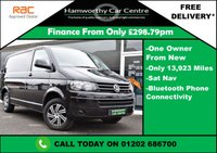 USED 2014 14 VOLKSWAGEN TRANSPORTER 2.0 TDI T28 Trendline Panel Van 4dr (SWB) ONE OWNER+LOW MILES+SAT-NAV