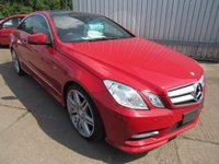 USED 2012 MERCEDES-BENZ E CLASS 2.1 E250 CDI BLUEEFFICIENCY S/S SPORT 2d AUTO 204 BHP