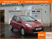USED 2011 11 RENAULT CLIO 1.1 DYNAMIQUE TOMTOM 16V 5d 75 BHP Bluetooth , Cruise Control ,Low Mileage