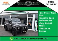 USED 2007 LAND ROVER DEFENDER 90 2.4 TDi County Hard Top 3dr LOW MILES + I OWNER + S/HISTORY