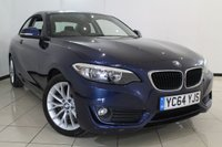 USED 2014 64 BMW 2 SERIES 2.0 218D SE 2DR 141 BHP AIR CONDITIONING + PARKING SENSOR + MULTI FUNCTION WHEEL + BLUETOOTH + 17 INCH ALLOY WHEELS