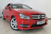 USED 2015 15 MERCEDES-BENZ C CLASS 1.6 C180 AMG SPORT EDITION 2DR AUTOMATIC 154 BHP HALF LEATHER SEATS + CLIMATE CONTROL + 0% FINANCE AVAILABLE T&C'S APPLY + SAT NAVIGATION + PARKING SENSOR + BLUETOOTH + CRUISE CONTROL + 18 INCH ALLOY WHEELS