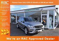 USED 2012 12 MERCEDES-BENZ M CLASS 3.0 ML350 CDI BlueTEC Sport 5dr FINANCE FROM ONLY £362.32