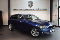 USED 2012 61 BMW 1 SERIES 2.0 118D SPORT 5DR AUTO 141 BHP + BLUETOOTH + BMW SERVICE HISTORY + SPORT SEATS + CRUISE CONTROL + CLIMATE CONTROL + PARKING SENSORS + 17 INCH ALLOY WHEELS +