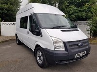 USED 2012 62 FORD TRANSIT 350 2.2 125 BHP 6 SEATER LONG HI/ROOF***70 VANS IN STOCK***