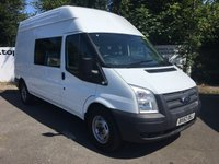 USED 2012 62 FORD TRANSIT 350 2.2 125 BHP 9 SEATER LONG/HI/ROOF RWD ***70 VANS IN STOCK***