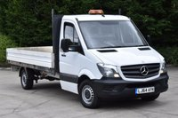 USED 2014 64 MERCEDES-BENZ SPRINTER 2.1 313 CDI 2d 129 BHP RWD LWB EURO 5 DIESEL MANUAL DROPSIDE LORRY VAN ONE OWNER LOVELY DRIVE SPARE KEY