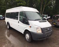 USED 2014 14 FORD TRANSIT 2.2 17 Seater Minibus Air Con Air Conditioning, Low Mileage