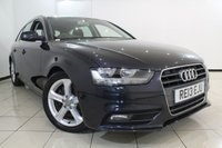 USED 2013 13 AUDI A4 2.0 AVANT TDI SE 5DR 134 BHP CLIMATE CONTROL + 0% FINANCE AVAILABLE T&C'S APPLY + PARKING SENSOR + BLUETOOTH + CRUISE CONTROL + MULTI FUNCTION WHEEL