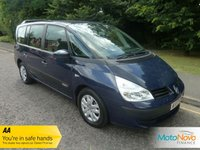 USED 2007 07 RENAULT GRAND ESPACE 2.0 TEAM T 5d 170 BHP VERY NICE GRAND ESPACE WITH ONE PREVIOUS LADY OWNER, SEVEN SEATS, AIR CONDITIONING AND RENAULT SERVICE HISTORY.