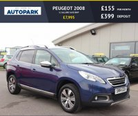 USED 2014 14 PEUGEOT 2008 1.2 ALLURE 5d 82 BHP LOW DEPOSIT OR NO DEPOSIT FINANCE AVAILABLE.