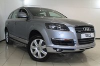 USED 2006 06 AUDI Q7 3.0 TDI QUATTRO SE 5DR 234 BHP AUDI SERVICE HISTORY + HEATED LEATHER SEATS + CLIMATE CONTROL + 7 SEATS + SAT NAVIGATION + PARKING SENSORS + BLUETOOTH + CRUISE CONTROL + 18 INCH ALLOY WHEELS