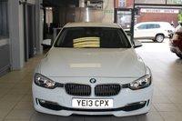 USED 2013 13 BMW 3 SERIES 2.0 320D LUXURY 4d 184 BHP DAKOTA BLACK HEATED LEATHER SEATS + BMW SERVICE HISTORY + SAT NAV + REAR PARKING SENSORS + BLUETOOTH + DAB RADIO + RAIN SENSORS