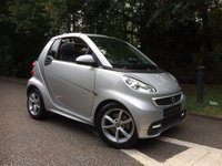 USED 2012 62 SMART FORTWO CABRIO 1.0 PULSE MHD 2d 71 BHP GET READY FOR SUMMER, CABRIO AND AIR CONDITIONING