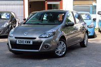 USED 2010 10 RENAULT CLIO 1.6 INITIALE TOMTOM VVT 5d AUTO 110 BHP LOW MILEAGE / FSH INC CAMBELT / FULL LEATHER / SAT-NAV