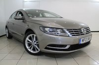 USED 2013 13 VOLKSWAGEN CC 2.0 TDI BLUEMOTION TECHNOLOGY 4DR 138 BHP SERVICE HISTORY + 0% FINANCE AVAILABLE T&C'S APPLY + SAT NAVIGATION + PARKING SENSORS + BLUETOOTH + MULTI FUNCTION WHEEL + 17 INCH ALLOY WHEELS