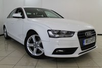 USED 2013 13 AUDI A4 2.0 TDIE SE TECHNIK 4DR 161 BHP AUDI SERVICE HISTORY + 0% FINANCE AVAILABLE T&C'S APPLY + LEATHER SEATS + SAT NAVIGATION + PARKING SENSOR + BLUETOOTH + CRUISE CONTROL + MULTI FUNCTION WHEEL