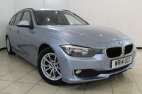 USED 2014 14 BMW 3 SERIES 2.0 320D EFFICIENTDYNAMICS BUSINESS TOURING 5DR 161 BHP BMW SERVICE HISTORY + HEATED LEATHER SEATS + SAT NAVIGATION + PARKING SENSOR + BLUETOOTH + MULTI FUNCTION WHEEL