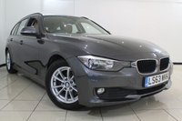 USED 2014 63 BMW 3 SERIES 2.0 320D EFFICIENTDYNAMICS BUSINESS TOURING 5DR 161 BHP SERVICE HISTORY + 0% FINANCE AVAILABLE T&C'S APPLY + SAT NAVIGATION + PARKING SENSOR + BLUETOOTH + CRUISE CONTROL