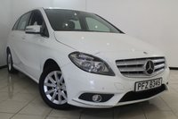 USED 2013 63 MERCEDES-BENZ B CLASS 1.5 B180 CDI BLUEEFFICIENCY SE 5DR 109 BHP MERCEDES SERVICE HISTORY + AIR CONDITIONING + SAT NAVIGATION* + PARKING SENSOR + BLUETOOTH + MULTI FUNCTION WHEEL + 16 INCH ALLOY WHEELS