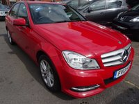 USED 2013 13 MERCEDES-BENZ C CLASS 2.1 C220 CDI BLUEEFFICIENCY EXECUTIVE SE 4d 168 BHP FIRE OPAL RED/BLACK LEATHER