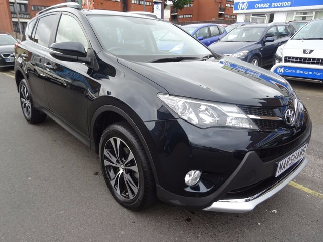 2015 15 TOYOTA RAV4 2.2 D-4D INVINCIBLE 5d AUTO 150 BHP DEEP STEEL GREY/BLACK LEATHER