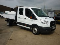 2016 FORD TRANSIT 2.2TDCi T350 DOUBLE CAB TIPPER  125 BHP £17395.00