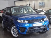 USED 2015 15 LAND ROVER RANGE ROVER SPORT 5.0 SVR 5d AUTO 550 BHP +EXTENDED WARRANTY 2019+