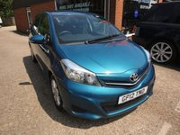 USED 2012 12 TOYOTA YARIS 1.3 VVT-I TR 5 DDOR 98 BHP REVERSE CAMERA BLUETOOTH MET PAINT  APPROVED CARS ARE PLEASED TO OFFER THIS  TOYOTA YARIS 1.3 VVT-I TR 5 DOOR 98 BHP WITH REVERSE CAMERA, BLUETOOTH, MET PAINT,E/WINDOWS,C /LOCKING AND MUCH MORE WITH A FULL TOYOTA MAIN DEALER SERVICE HISTORY SERVICED AT 10K,20K,29K,40K,49K AND 62K ALL AT BEADLES TOYOTA IN GILLINGHAM KENT A GREAT CAR WITH GREAT SERVICE HISTORY IN GREAT CONDITION.