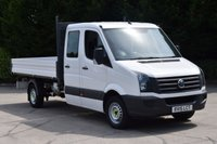 USED 2015 15 VOLKSWAGEN CRAFTER 2.0 CR35 TDI LWB RWD 4d 109 BHP D/CAB 7 SEATER DIESEL MANUAL TIPPER ONE OWNER, FULL S/H EURO 5 LOW MILEAGE