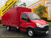 USED 2012 12 IVECO-FORD DAILY 35c15 3.0TD EEV Eco Lwb Curtain Sided, Rare build body Lez