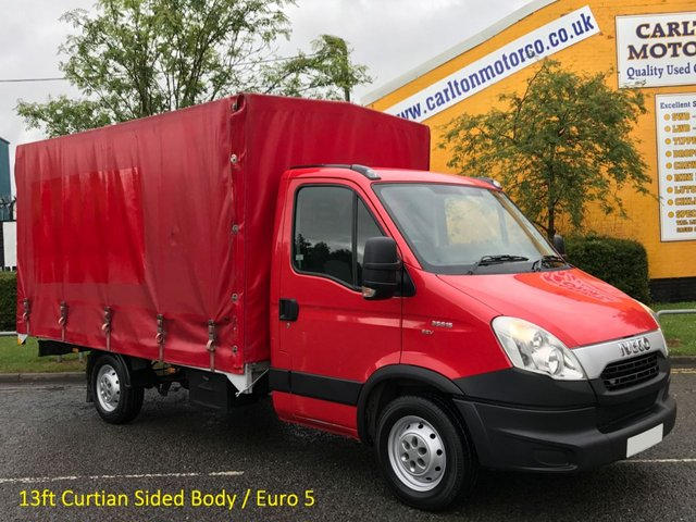 2012 12 IVECO-FORD DAILY 35c15 3.0TD EEV Eco Lwb Curtain Sided, Rare build body Lez