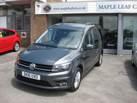 USED 2016 16 VOLKSWAGEN CADDY MAXI 2.0 C20 LIFE TDI 5d AUTO 148 BHP 7 seats. Automatic. Air conditioning. VW warranty until March 2019