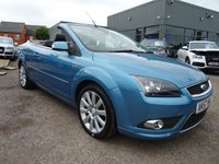 USED 2007 57 FORD FOCUS 2.0 CC3 2d 135 BHP 1 PREVIOUS KEEPER 8 SERVICE STAMPSserviced at 6834mls, 14841mls, 21215mls, 31514mls, 34880mls, 38613,mls, 4179 MOT NOV 17  MANUEL DIESEL, With contrasting Black Sports leather trim, 5 stage heated seats, radio stereo CD player, electric windows and mirrors, 4 spoke multi-function steering wheel, carbon pack, cup holders, 6 speed gearbox, ISOFIX, electric convertible roof, automatic lights, dual zone air conditioning, cruise control, sports alloy wheels, park distance control, chrome grill front