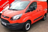 2014 FORD TRANSIT CUSTOM 2.2 330 SWB Low Roof 125 BHP Full Ford History £8995.00