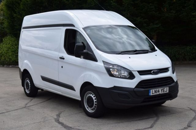 2014 14 FORD TRANSIT CUSTOM 2.2 330 P/V 5d 153 BHP FWD ECO-TECH AIR CON LWB H/ROOF DIESEL MANUAL VAN  TWO OWNER FULLY LOADED SPARE KEY