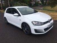USED 2014 63 VOLKSWAGEN GOLF 2.0 GTD 184 bhp DSG 5d AUTO 184 BHP GOLF GTD 184 IN WHITE WITH FSH AND DSG GEARBOX ONLY 25000 MILES