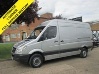 USED 2013 13 MERCEDES-BENZ SPRINTER 2.1 213CDI MWB HIGH ROOF. AUTOMATIC. METALLIC SILVER. 1 OWNER. EXTREMELY RARE VAN. FINANCE. WARRANTY. PX WELCOME