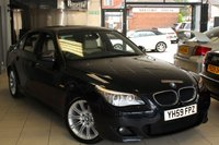 USED 2009 59 BMW 5 SERIES 2.0 520D M SPORT 4d 175 BHP FULL BEIGE LEATHER SEATS + FULL BMW SERVICE HISTORY + BLUETOOTH + PARKING SENSORS + CRUISE CONTROL + HEATED SEATS + 18 INCH ALLOYS